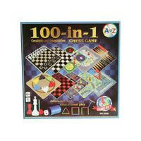 100 in 1 Classic Traditional Board Game Set Snakes Ladders Ludo Chess Checkers