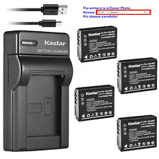 Kastar Battery Slim Charger for Panasonic CGA-S007 & Panasonic LUMIX DMC-TZ4S