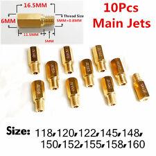 10Pcs Main Jet for Carburetor Choose from 118-160 OEM