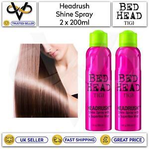 2 x Tigi Bed Head Headrush Shine Spray With Superfine Mist 200ml Light Coverage