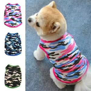 Pet Puppy T-Shirt Clothes Coat Apparel Costumes Warmer Summer Camouflage Vest