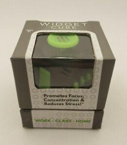 WIDGET - FIDGET CUBE - BLACK AND GREEN - GLOWS IN THE DARK!