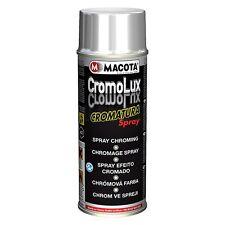Macota CROMOLUX Vernice Cromata Spray 400ml Cromatura Resitente al Calore Cromo