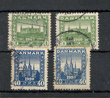 DENMARK-4 USED STAMPS-Association of North Schleswig with Denmark-1921.
