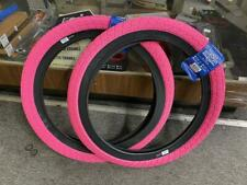 "PAIR OF SUNDAY BMX BIKE CURRENT TIRES PINK/BLACK 20 x 2.25"" PRIMO CULT ECLAT"