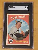 1959 Topps #180 Yogi Berra SGC 5 Newly Graded & Labelled PSA BVS ?