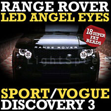 RANGE ROVER SPORT LED 18 BEADS DRL ANGEL EYES ANGELEYES SUPER BRIGHT VOGUE 120mm