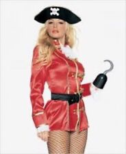 6 PC CAPTAIN HOOKER Adult Female Pirate Swashbuckler Cosplay Halloween -L   N36