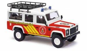 Busch 50370 - 1/87/H0 Land Rover Defender - Canine - Neuf