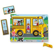 Melissa & Doug Sound Puzzle ~ The Wheels on the Bus 2+