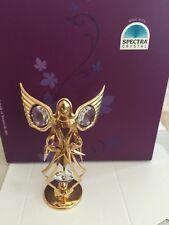 Angel Figurine Swarovski Prisms Rhinestones 24K GP Stand