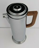 Vtg Manning Bowman Art Deco Chrome Cocktail Shaker - Missing Knob & Spout Cap