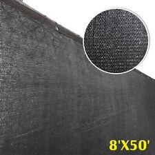8'x50' Fence Windscreen Privacy Screen Shade Cover Fabric Mesh Garden Tarp Black