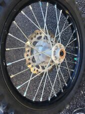"""2014 KX85 17"""" front rim tire, rotor hub 2001-2018 KX100 KX85"""