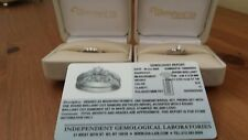 Diamond engagement/wedding ring set 18ct White gold with Certificate size N used