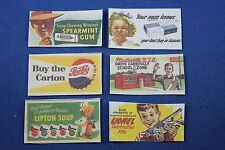 Plasticville - HO scale - Billboard Signs - 6 Signs - Reproductions
