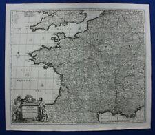 Original antique DE WIT atlas map FRANCE, 'Accuratissima Galliae ...' pub c.1690