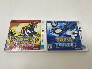 Pokemon Omega Ruby Alpha Sapphire Nintendo 3DS Games Brand New & Factory Sealed!