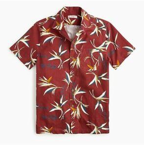 Wallace & Barnes printed camp-collar shirt
