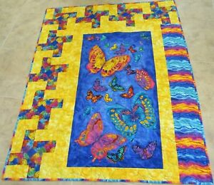 Butterfly Bright Quilt - homemade