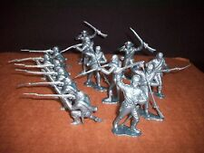 MARX Confederate Firing Line Toy Soldiers 22 in 8 poses (Metallic Blue) 54MM