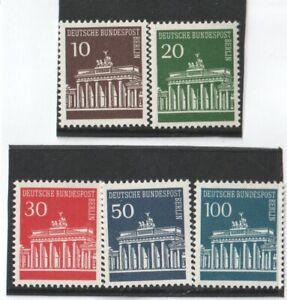 1966 WEST BERLIN GERMANY - S.G:B 281/84A - BRANDENBERG - UNMOUNTED MINT