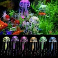 Floating Jelly Fish Glowing Effect Aquarium Tank Ornament Fish Decoration H H0L5