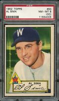 1952 Topps BB Card # 93 All Sima Washington Senators ROOKIE PSA NM-MT 8 oc !!!