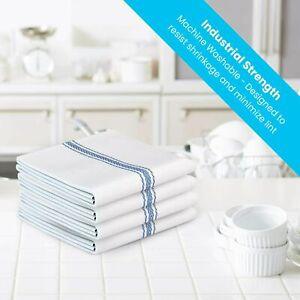 3X 100% Cotton Bar Glass Dish Cloths Catering Kitchen Restaurant Tea Towels