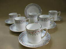 Set of 6 Art Deco Coffee Cans / Cups & Saucers ~ Grafton China / A.B. Jones