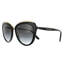 Dolce & Gabbana DG 4304 501/8g Black Frame Grey Shaded Lens Sunglasses 57