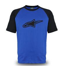 Genuine Alpinestars Extreme Sports Motocross Racing Streetwear Blue Tee T-Shirt