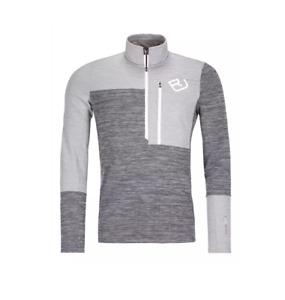Ortovox Fleece Light Zip Neck Gray/Grey Mens Medium