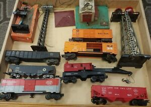 Vintage Lionel O Scale Train Car and Accessories Lot - Estate Find