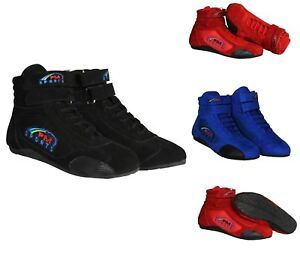 Karting Boots Go Kart Racing Boots with suede & Mesh Adult Kids Shoes All Sizes