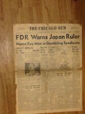 Guerra Mundial periódico Adolph Hitler Chicago Sun ll 7 de diciembre de 1941
