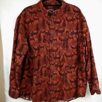 Vintage Woolrich Mens Chamois Flannel Shirt XL Rare Copper Shadow Whitetail Deer