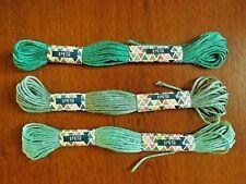 lot de 3 échevettes de fils à broder 3 verts différents (8)