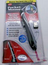 Pocket Mouse Pen As Seen On TV Genuine USB Wireless Optical 2-in-1 Digital Pen