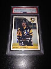 Mario Lemieux Signed 1985-86 O-Pee-Chee Rookie Card 10 Auto PSA 8 Slab #41209047
