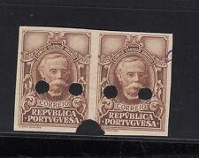 """PORTUGAL SPECIMEN STAMPS-""""CORREIO"""",1 X2 stamps,NO PERFORATION, NO GUM"""