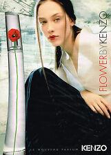 PUBLICITE ADVERTISING 045  2000  KENZO   FLOWER  pour femme