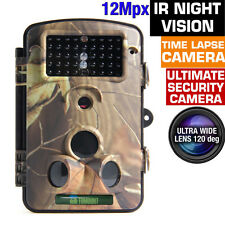 12MP Low Glow Wildlife Infrared Trail Scouting Camera HD Sensor 3 PIR Camera