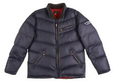 RARE The Flat Head JAPAN Navy Blue Puffer Feather Down Filled Jacket Coat 42
