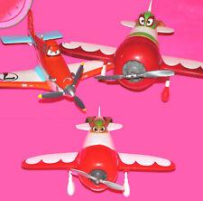 Lot 3 Disney PIXAR'S PLANES - 1 Deluxe Talking DUSTY & 2 EL CHUPACABRA Airplanes