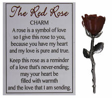 The Red Rose Inspirational Pocket Charm w/ Story Card