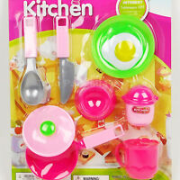Kids Kitchen Party Cooking Food Pretend Chef Play Set Toy Girls Gift xmas Regalo
