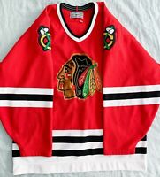 Chicago Blackhawks Vintage Red NHL CCM Center Ice Authentic Blank Jersey 48