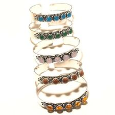 Wholesale Lot Silver Plated Onyx Mix Gemstone Bracelet Cuff Fashion Jewelry