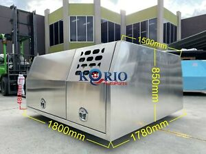 Aluminium Tool Box Dual Cab Canopy Ute Toolbox Dog Box Dog Cage 1780W 1800L 850H